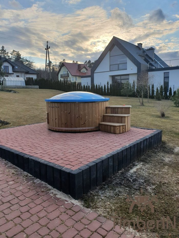 Wooden hot tub with electric heater, piotr, bilcza, poland (1)