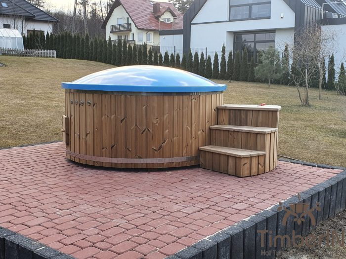 Wooden hot tub with electric heater, piotr, bilcza, poland (2)