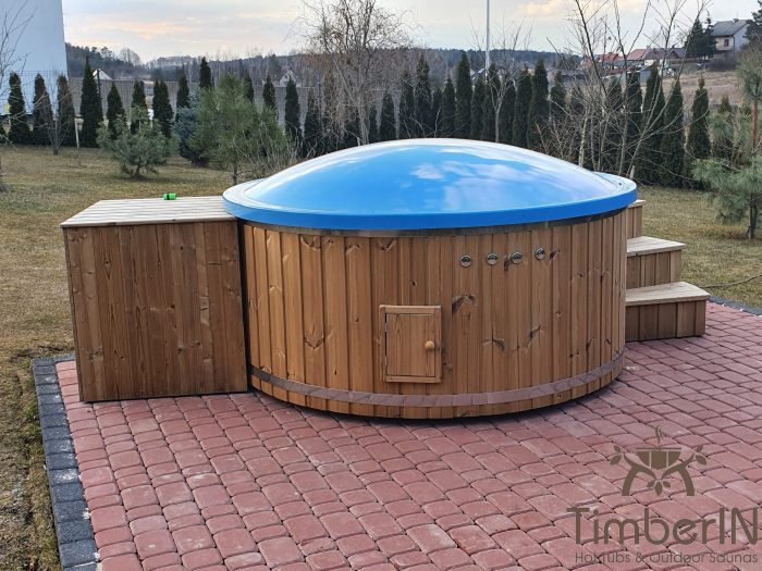Wooden hot tub with electric heater, piotr, bilcza, poland (3)