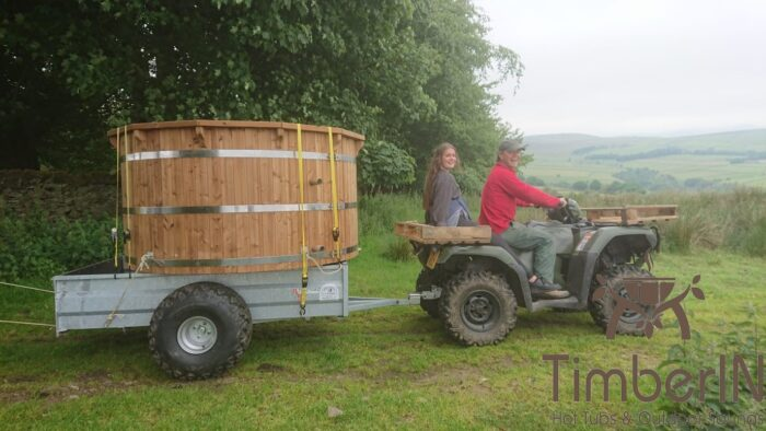 Wooden hot tub possible with jets deluxe thermowood, robert, hope valley, united kingdom (1)