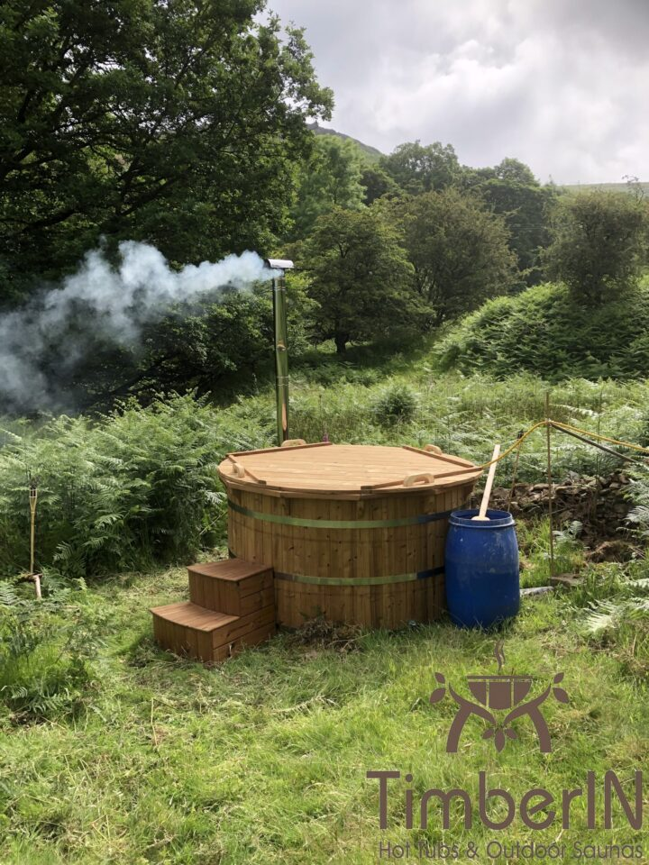 Wooden hot tub possible with jets deluxe thermowood, robert, hope valley, united kingdom (2)