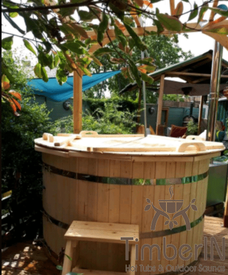 Wooden hot tub spruce flat pack deluxe, michelle, gloucester, united kingdom