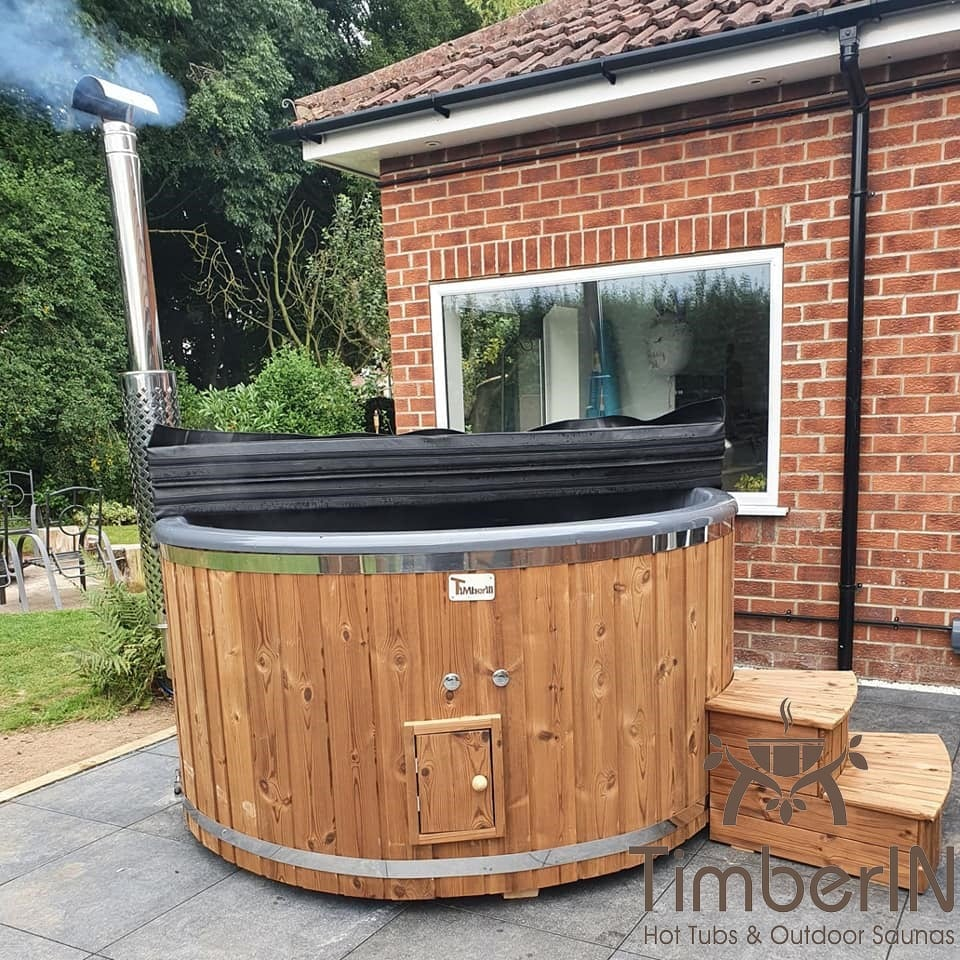Wood burning heated hot tubs with jets TimberIN Rojal Dan Hull United Kingdom 2