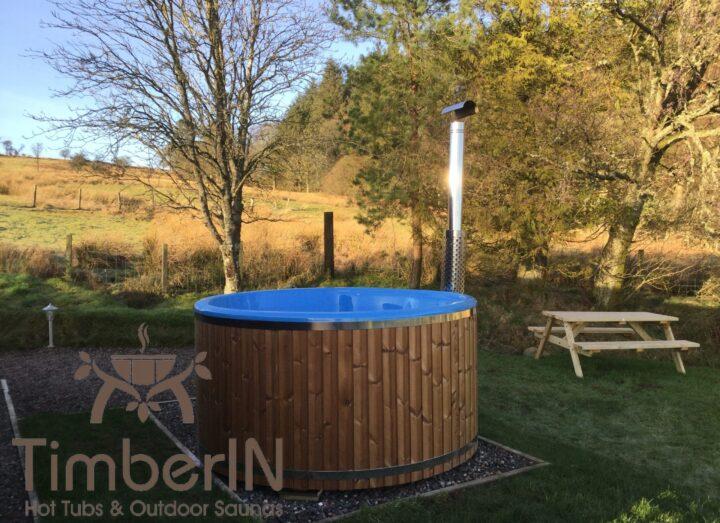 Wood burning hot tub wellness royal