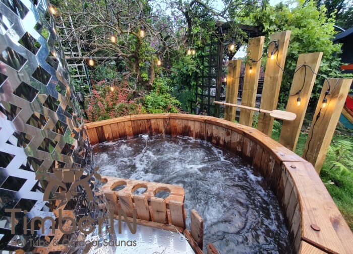 Wooden hot tub possible with jets deluxe thermowood (3)