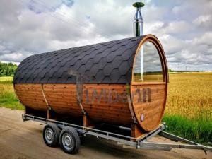 Mobile-outdoor-barrel-sauna-for-sale Outdoor Saunas - Garden Saunas - Barrel Saunas UK DEALS