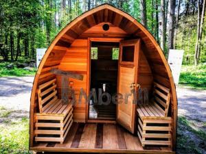 Outdoor-Garten-Holz-Sauna-Fasssauna-Aussensauna-Rote-Zeder-Mit-Elektroheizung-Und-Veranda-19 Outdoor Saunas - Garden Saunas - Barrel Saunas UK DEALS