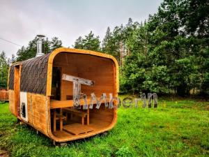 Rectangular-outdoor-garden-wooden-sauna-ireland Sauna gallery