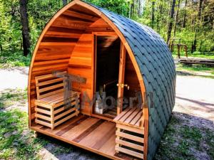outdoor-garden-wooden-sauna-electric-red-cedar Outdoor Saunas - Garden Saunas - Barrel Saunas UK DEALS