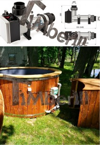 Electric_heater_6kw_(2) Fiberglass lined outdoor hot tub integrated heater with wood staining