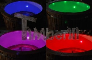 LED_(2) Fiberglass outdoor spa with external burner