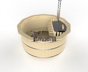 Outdoor_round_hot_tub_(7) wooden deluxe