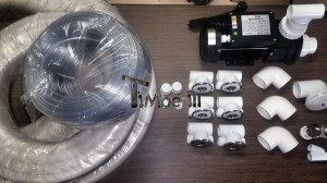 Water_massage_system_(1) Polypropylene lined exterior Hot tub Including: Massage + 2 LED