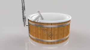 Wellness_Fiberglass_3D_render_(14) Fiberglass lined hot tub with integrated burner thermo wood [Wellness Royal]