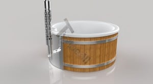 Wellness_Fiberglass_3D_render_(16) Fiberglass lined outdoor hot tub integrated heater with wood staining