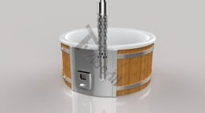 Wellness_Fiberglass_3D_render_(18) Fiberglass lined outdoor hot tub integrated heater with wood staining