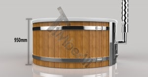 Wellness_Royal_3D_(3) Fiberglass lined outdoor hot tub integrated heater with wood staining